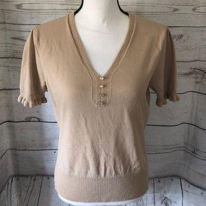 🛍 5/$30 Anne Klein beige blouse